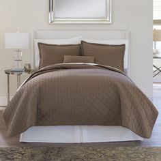 Royal Velvet® 400tc WrinkleGuard Quilted Coverlet & Accessories  found at @JCPenney