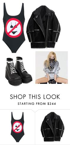 """Bez naslova #297"" by mishimaqueen ❤ liked on Polyvore featuring Moschino, H&M, women's clothing, women, female, woman, misses and juniors"