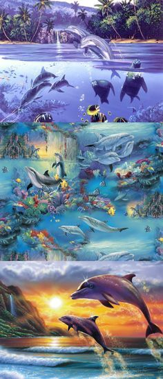 So gorgeous.I hope it was applied to the one ocean show banner! Weird Sea Creatures, Ocean Creatures, Underwater Art, Underwater Creatures, Orcas, Ocean Art, Ocean Life, Save The Sea Turtles, Dolphin Art