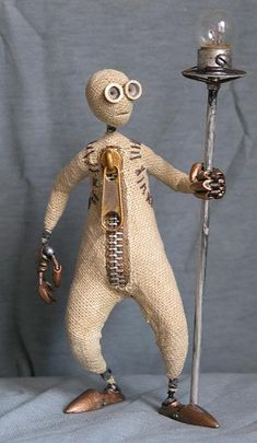 Figure-doll from an animation film Tim Burton Doll, handwork. Figure-doll from an animation. Arte Steampunk, Polymer Clay Dolls, Foto Art, Assemblage Art, Stop Motion, Stuffed Toys Patterns, Clay Art, Altered Art, Puppets