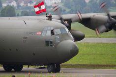 Airpower 2013 Hercules Bundesheer Fahne Peter Hollos Ac 130, Aeroplanes, Austria, Flags, Air Force, Fighter Jets, Aviation, Aircraft, Clock