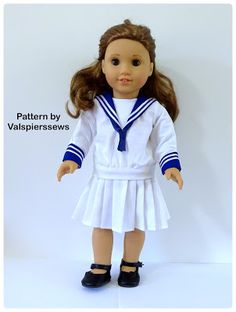 Doll Clothes Patterns by Valspierssews: Doll Clothes Patterns for Sailor Suits…