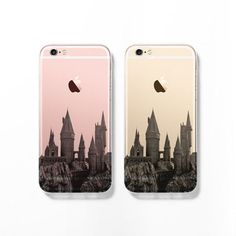 Hogwarts iPhone 6 case, iPhone 6s case, clear transparent case, iPhone 5s case, iPhone 5C cover, cityscape, skyline, Christmas gift C083