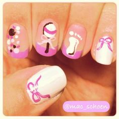 great for a baby shower maybe Baby Shower Nails, Baby Nails, Gender Reveal Nails, Baby Shower Gender Reveal, Nail Art Hacks, Baby Party, Toe Nails, Hair And Nails, Cool Designs