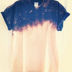 Bleach dip dye black T-shirt