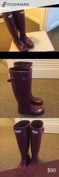 WOMENS TALL PURPLE HUNTER RAIN BOOTS Women's Tall Purple Size 8 Hunter Rain Boots Hunter Boots Shoes Winter & Rain Boots
