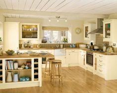 My kitchen! from Howdens - Burford Cream Kitchen Cream And Oak Kitchen, Cream Country Kitchen, Pine Kitchen, White Kitchen Cabinets, Cream Cupboards, Wooden Kitchen, Cottage Kitchens, Home Kitchens, Cream Kitchens