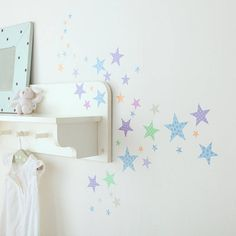 star wall stickers harlequin by kidscapes | notonthehighstreet.com