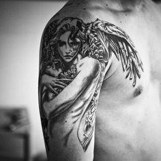 Angel Shoulder Tattoos