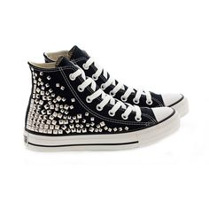 Studded Converse by CUSTOMDUO on ETSY ($110) via Polyvore