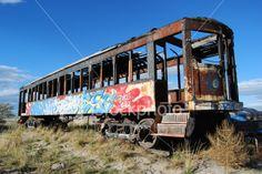 Abandoned Graffiti Train Car Royalty Free Stock Photo