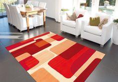 Tapis Modern Line ~ Pop Art Rouge Spirit - Arte Espina