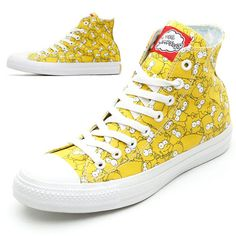 a54acc768a54 Converse x Les Simpsons Ete 2014   Baskets Chuck Taylor et All Star Hi  Painted Sneakers