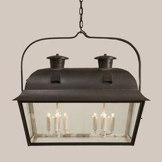 Double Nantucket Hanging Lantern - Paul Ferrante for over kitchen island Garage Lighting, Farmhouse Lighting, Dining Room Lighting, Rustic Lighting, Exterior Lighting, Home Lighting, Luxury Lighting, Lighting Ideas, Pendant Lighting