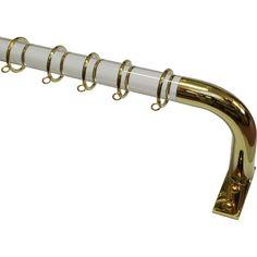 Acrylic French rod with Polished Brass return Acrylic Rod, Clear Acrylic, Curtain Hardware, Polished Brass, Curtain Rods, Bangles, Curtains, French, Silver