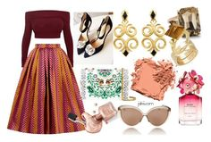 """""""Belle of the Ball"""" by jakiishoes on Polyvore featuring House of Holland, Linda Farrow, Tory Burch, Marc Jacobs, Bobbi Brown Cosmetics, Ann Taylor and Gucci"""