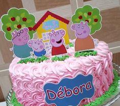 Bolo peppa pig: 58 modelos e ideias para se inspirar e caprichar na festa!   #peppapig #peppa #peppapigparty #festainfantil Tortas Peppa Pig, Bolo Da Peppa Pig, Peppa Pig Birthday Cake, Peppa Pig Cakes, Pj Masks Cupcake Toppers, Peppa Pig Wallpaper, Peppa Pig Printables, George Pig Party, Aniversario Peppa Pig