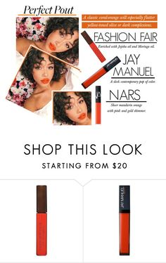 """The Perfect Summer Pout - Coral Orange"" by latoyacl ❤ liked on Polyvore featuring beauty, Fashion Fair and NARS Cosmetics"