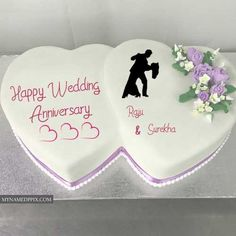 Double Heart Anniversary Cake Wishes Couple Name Photo. Happy Wedding Anniversary Two Heart Cake. Romantic Anniversary Cake With Lover Name. Beautiful Happy Anniversary Cake With Names. Anniversary Cake With Photo, Anniversary Wishes For Parents, Happy Wedding Anniversary Wishes, Happy Anniversary Cakes, Romantic Anniversary, Marriage Anniversary, Anniversary Photos, Wedding Wishes, Wedding Cake With Name