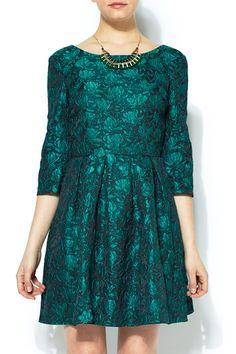 Emerald Jacquard Dress http://rstyle.me/n/fmzn2r9te