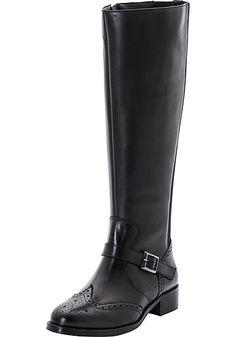 #schwarz #weiß #fashion #plussize #plussizefashion #curvyfashion #shoes #boots #sheego    XL/XXL-Weitschaftstiefel