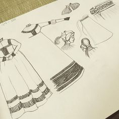 So, I'm stepping down from my high horse and going all out working class. German Trossfrau is in the making!  Sketching on my future dress and some accessories. The Gollar is already halfway done, I'm just waiting for the lining to arrive. And I need linen. Like a lot!  #garb #sketch #german #landsknecht #trossfrau #germanrenaissance #renaissance #16thcentury #1500 #wool #linen #vssmk #history #proknekt