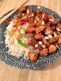 In-House Cook: Kung Pao Chicken with Rice and Garlic Chips I have...