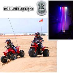 "472.00$  Watch here - http://ali4rw.worldwells.pw/go.php?t=32784073899 - ""Car Styling """" 8PCS"""" 12V led Warning Flag light RGB decorative car accessories led flag light bar Remote Changing rgb Flag light "" 472.00$"