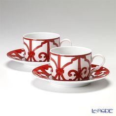 HERMES Gadarukivu~iru tea cup and saucer