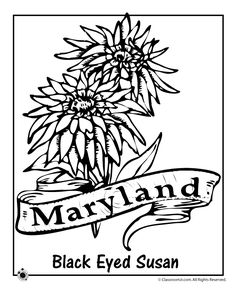 Printable Map of Maryland craft outline Crafts Pinterest