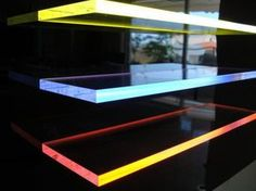 Light Tape Edge Lit Acrylic Shelves