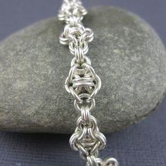 Sterling silver bracelet Florentine chain mail by janehamill, £70.00