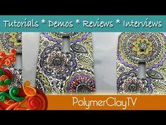 Make a Polymer Clay Silkscreen Light Switch Plate Tutorial - YouTube
