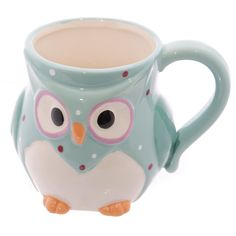 Ceramic Polka Dot Owl Mug