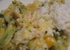 Chicken Broccoli Rice and Cheese Casserole - made this on 6/16/15. Hubby loved it.  I used canned chicken, used 4 cups cooked rice, and sprinkled Panko and almonds on top before baking. Didn't have an onion so I used a little onion powder.