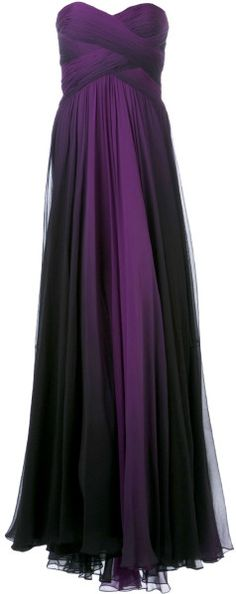 Pamella Roland Ombré Gown in Purple (pink & purple) - Lyst jaglady