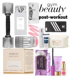 """gym beauty"" by mildredsunrise on Polyvore featuring beauty, Aurelia Probiotic Skincare, tarte and adidas Originals"