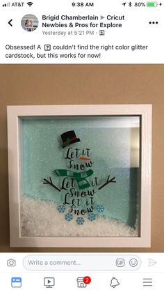 Christmas DIY Decorations Easy and Cheap – Shadow Boxes | Snowman Crafts