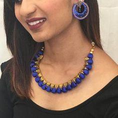 Handmade Silk Thread Necklace Set – Sarang Silk Thread Necklace, Thread Jewellery, Long Tassel Earrings, Necklace Set, Jewelry Sets, Classy, Handmade, Color, Fashion