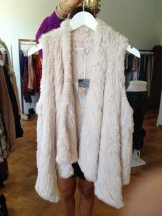 So cozy! Natasha fur vest @ Chateau Clothing, Perth
