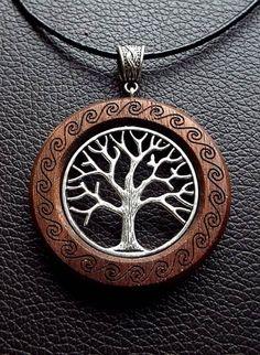 Todchic, Magische Zauberwelt, Holz, Amulett, Lebensbaum