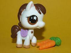 Littlest Pet Shop LPS Hasbro Brown White Horse Pony 578 | eBay