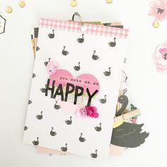 DIY mood mini album by Karen @hellotodaycreate using 'Bloom' from Maggie Holmes