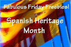 Fabulous Friday Freebies! Spanish Heritage Month Educational Freebies by One Less Headache.