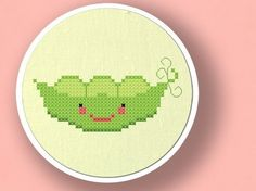 Peas in a Pod Cross Stitch PDF Pattern by andwabisabi on Etsy, $3.00