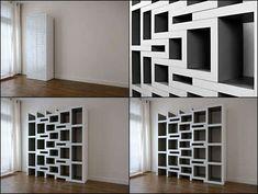 Elegant Expanding Bookshelves