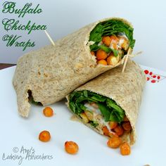 Amy's Cooking Adventures | Vegetarian Friday | Buffalo Chickpea Wraps