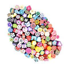 100 piezas de varilla de palo de caña 3d sticker decoraciones de uñas de arte (color al azar) – USD $ 8.99