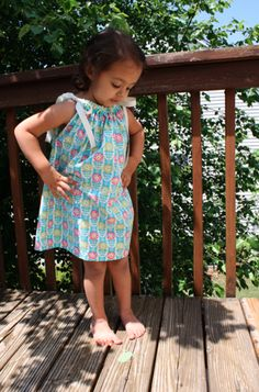 Easiest Pillowcase Dress Ever - Sew Like My   Great idea for making dresses easily out of pillowcases for giving away in the shoeboxes