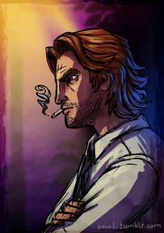 I've been playing The Wolf Among Us for a while now (finished it once, now trying a. less aggressive approach). Much to the surprise of absolutely no one, I fucking love the style and I really. Fables Comic, The Wolf Among Us, Night In The Wood, Big Bad Wolf, Epic Art, Video Game Characters, Life Is Strange, Dc Heroes, Dragon Age